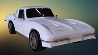 3d max chevrolet corvette stingray 1964