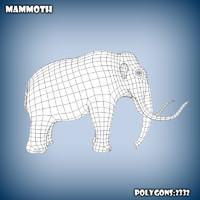 3d model base mesh mammoth