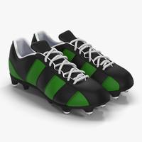 football boots 2 green 3d model