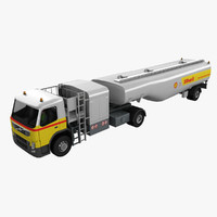 3d model of airport fuel truck