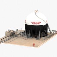 3d model lox storage facilities apollo launch