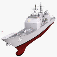3d ticonderoga class cruiser lake erie model