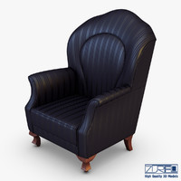 3d imperatrice armchair black