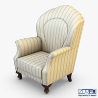 imperatrice armchair white cloth max