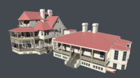 3d queen victorian villa model