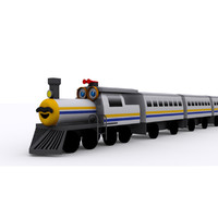 3d model cartoon locomotive
