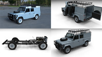 land rover defender 110 obj
