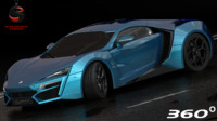 3d w motors lykan hypersport model