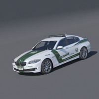 3d bmw 5 series police model