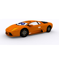 3d lamborgini car cartoon model