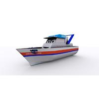 3d cartoon yacth model