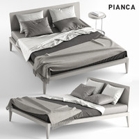 3d model of pianca spillo bed coffee table