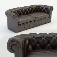 chesterfield classic sofa 3d max
