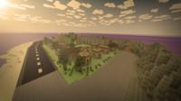 3d model of minecraft world