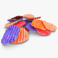3d model realistic veggie chip 2