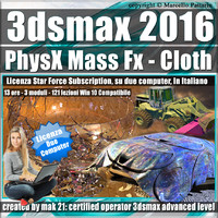 3ds max 2016 PhysX Mass Fx Cloth Subscription 2 Computer