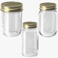 mason jars 3d model