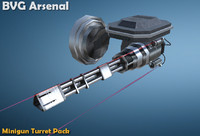 3d ma wall minigun turret
