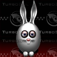 bunny cartoon 3d obj