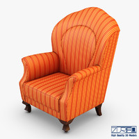 imperatrice armchair orange 3d max