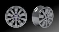3d style wheel model