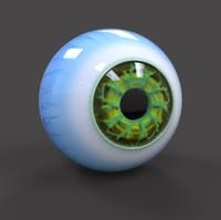 3d sci-fi eye