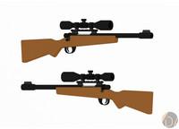 pack guns 3d model