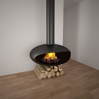 max fireplace realistic wood