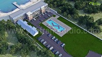 Aerial View of Resort Exterior Architectural Visualization