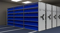 mobile shelving 3d 3ds