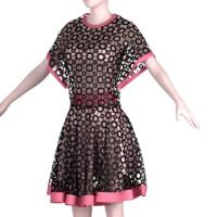 3d clothes girl dress model