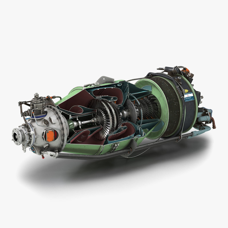 Turboprop Aircraft Engine Canada PT6 Sectioned 3d model 01.jpg