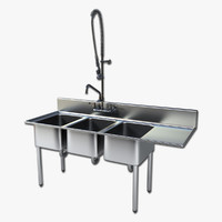 commercial sink 3d max
