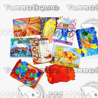 3d children s drawings gouache