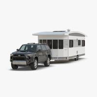 3d toyota 4runner hobby caravan model