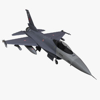 3d turkish air force f16-c model