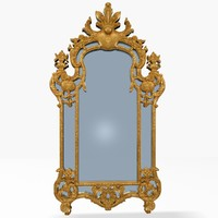 3d model antique mirror