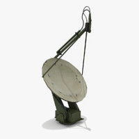 3d model of military dish