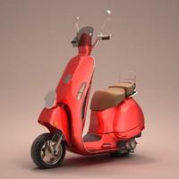 3d vintage scooter model