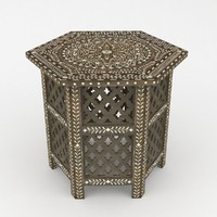 3d table moroccan model