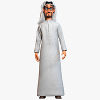 Cartoon Arab Man Rigged