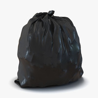 3d garbage bag model
