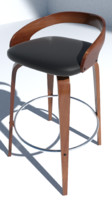 obj bar stool wood