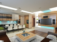interior modern apartment 3d max