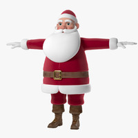3d santa claus cartoon