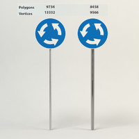 3d information roundabout sign