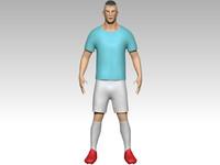 footballer zbrush shoes 3d model
