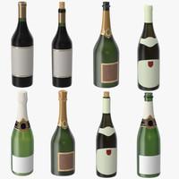 obj champagne bottles