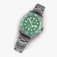 rolex submariner date green 3d model