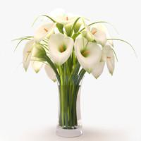 3d callas lilies bouquet